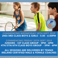KCTC Junior Tennis Lessons Sept 2019