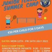 KCTC Junior Tennis Summer Camp 2021