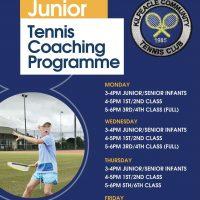 Junior Tennis Coaching September 2021